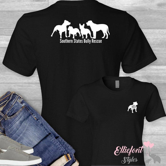Southern States Bully Rescue Shirt / Unisex T-shirt or Long Sleeve / PitBull Rescue - Elliefont Styles