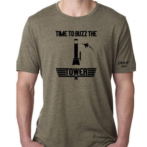 Time To Buzz The Tower | Beer Tower Shirt | Top Gun Movie Theme Shirts | Unisex Graphic Tee | Flight School | Maverick - Elliefont Styles