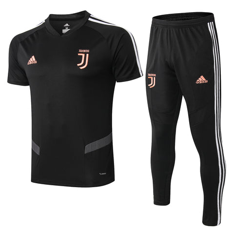 Juventus 19/20 black polo shirt & black long pants