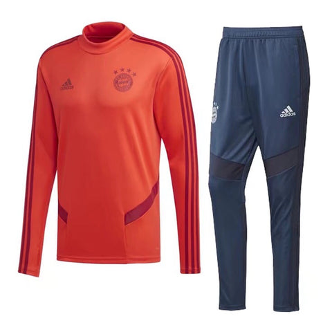 Bayern Munich 19/20 tracksuit (red jacket+blue pants)