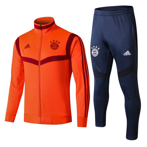 Bayern Munich 19/20 jacket suit (orange jacket+dark blue pants)