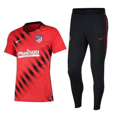 Atletico Madrid 19/20 red polo shirt & black long pants