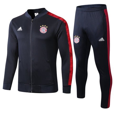 Bayern Munich 19/20 jacket suit (black jacket+black pants)