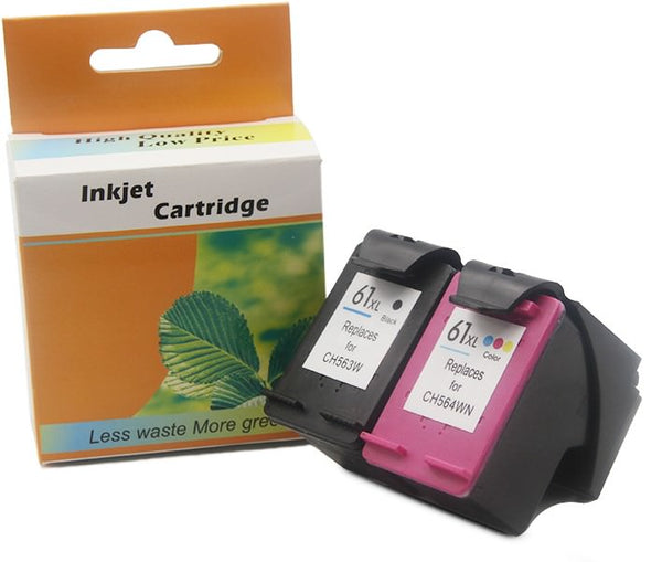 HP 61XL Remanufactured Ink Cartridge Twin Pack