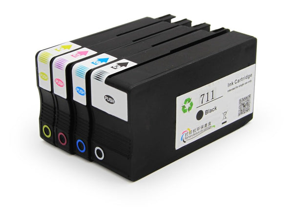 HP 711XL Remanufactured Ink Cartridge 4 Pack