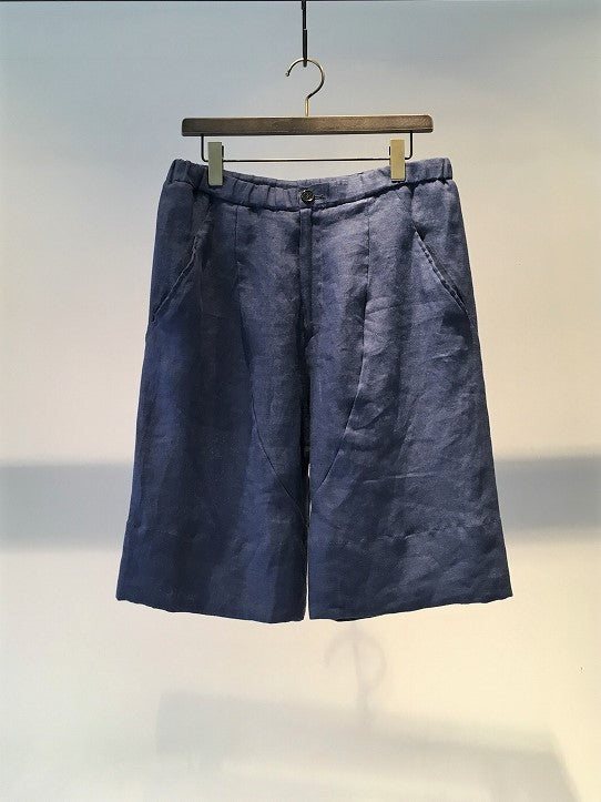 ANTONIO TUO / LINEN SHORTS / BLUE