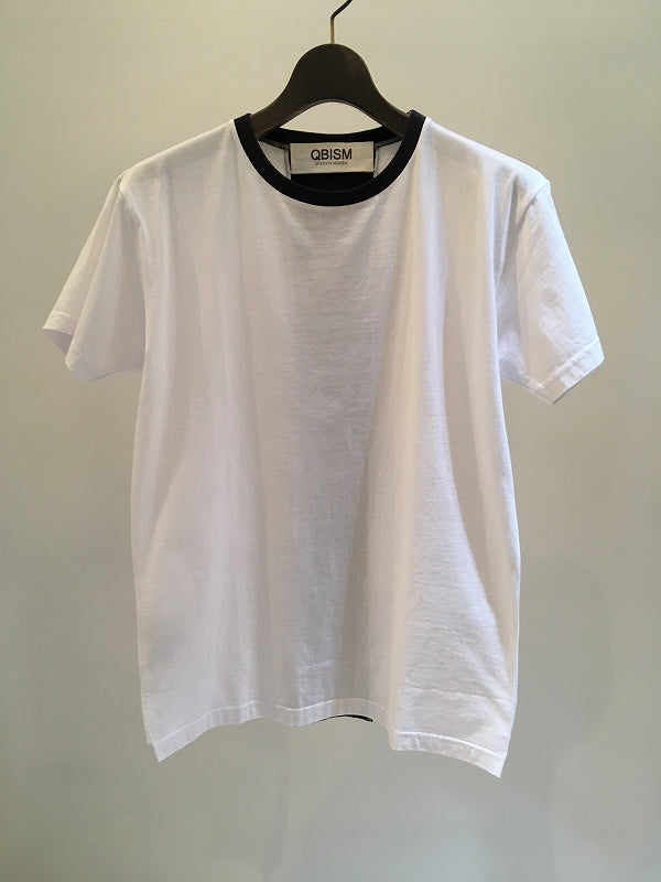 QBISM / MALEVITCH BACK BAND T-SHIRT / WHITE-BLACK