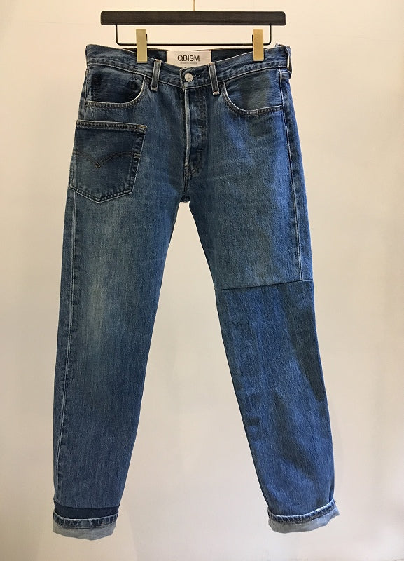 QBISM / REMAKE DENIM PANTS / VINTAGE BLUE