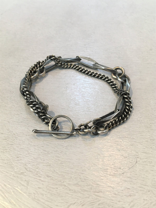 JULIA ZIMMERMANN / WILD BRACELET WITH FILED LINKS / SILVER