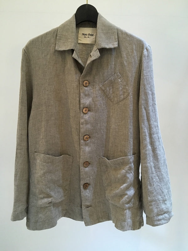 MARC POINT / LINEN WORK JACKET / NATURAL
