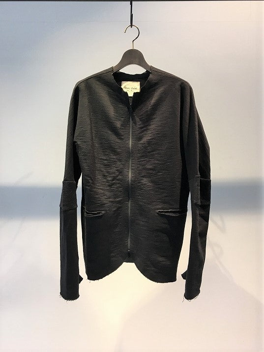 MARC POINT / ZIP UP JERSEY JACKET / BLACK