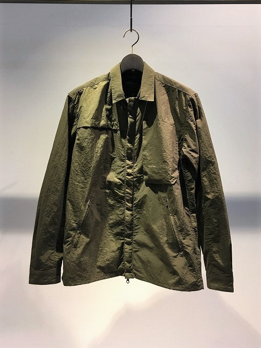 NILMANCE / SHIRT BLOUSON DETACHABLE COLLAR / OLIVE