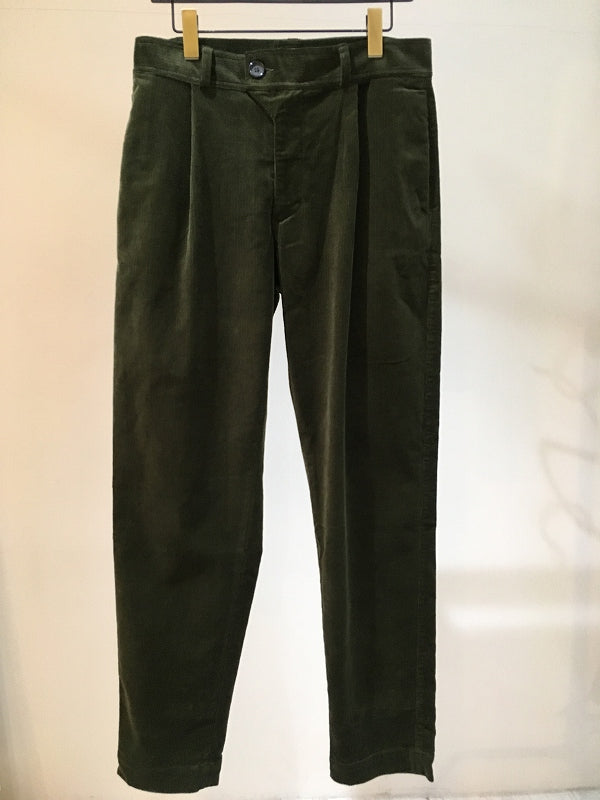 OLIVER SPENCER / PLEAT TROUSER / GREEN