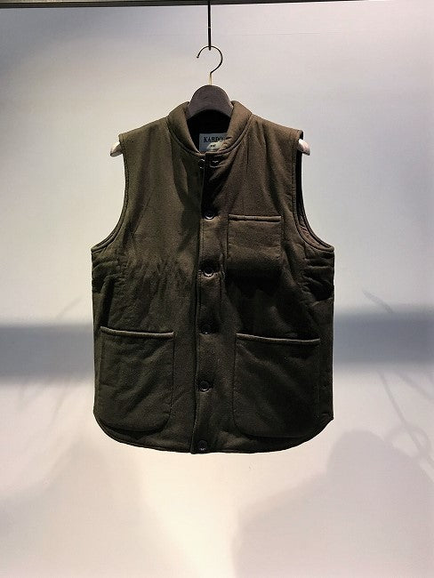 KARDO / QUILTED VEST / DARK GREEN