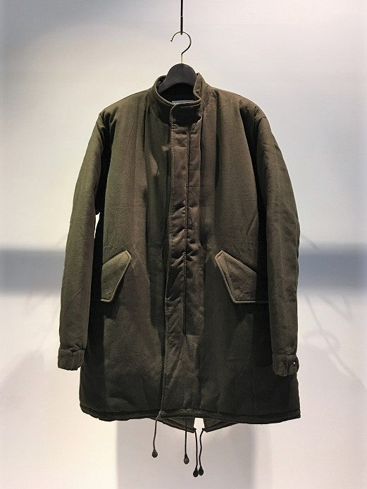 KARDO / QUILTED MILITARY COAT / DARK GREEN