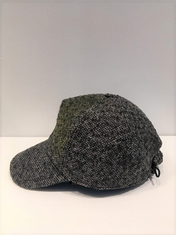 CORELATE / DYED TWEED BASEBALL CAP / NERO