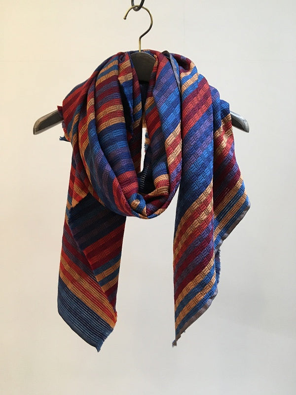 TRAITS / AURORE WOOL SILK STOLE / THREE PRIMARY COLORS