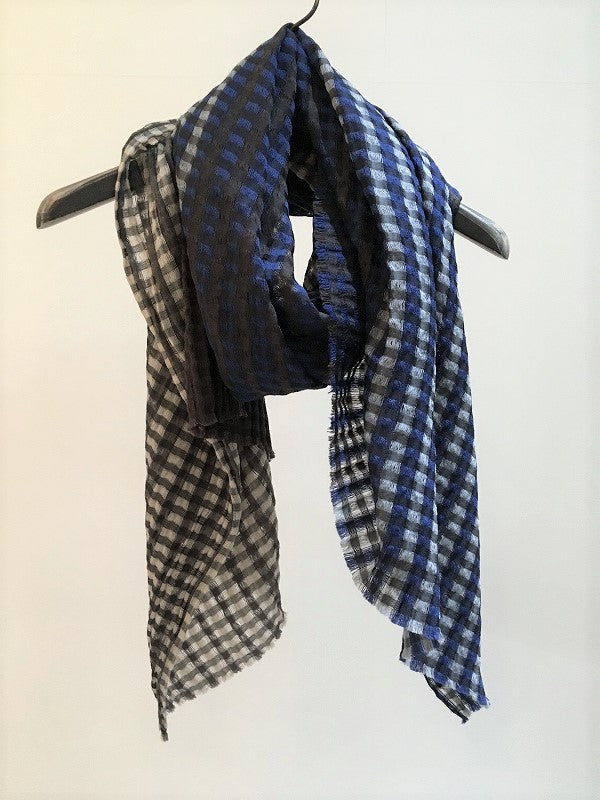 TRAITS / BOULLARD WOOL SILK STOLE / BLUE-GREY