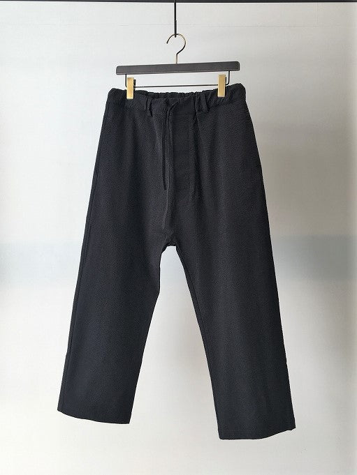 MARC POINT / SEERSUCKER COULISSE PANTS / BLACK