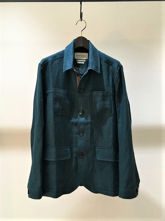 OLIVER SPENCER / COWBOY JACKET / TEAL