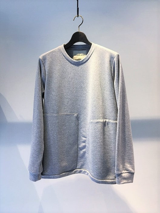CORELATE / MAXI POCKET SWEAT SHIRT / GREY