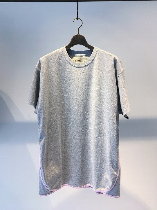 CORELATE / T-SHIRTS WITH CONTRASTING EDGE / GREY