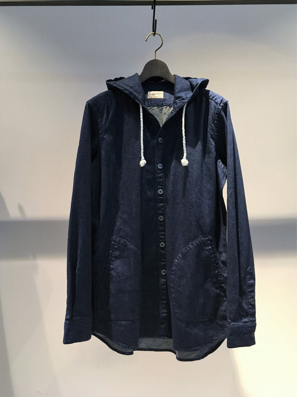 BEVILACQUA / HOODED OVER SHIRT / INDIGO