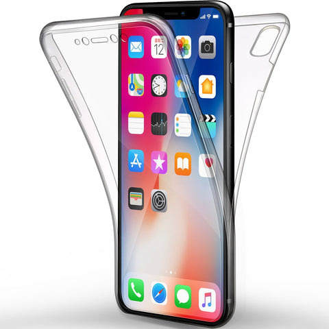 Coque intégrale silicone Apple iPhone XS - Phonillico