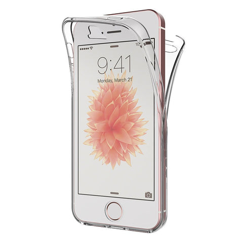 Coque intégrale silicone Apple iPhone SE - Phonillico