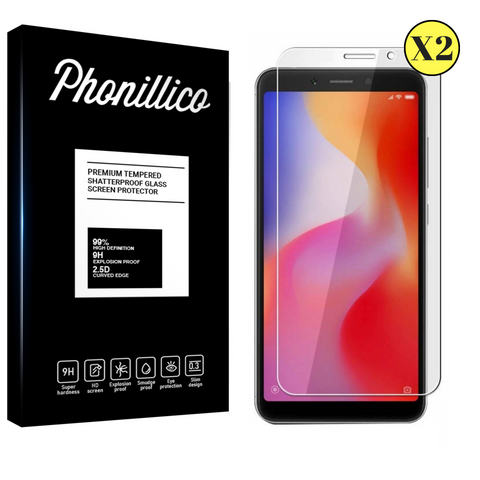 Lot 2 Verres Trempé Xiaomi Redmi 6 - Phonillico