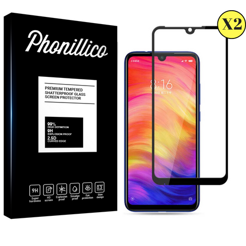 Lot 2 Verres Trempé Xiaomi Redmi 7 - Phonillico