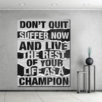 Inspirational Text Canvas Painting