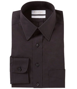 Microfiber - Black - Traditional Shirt