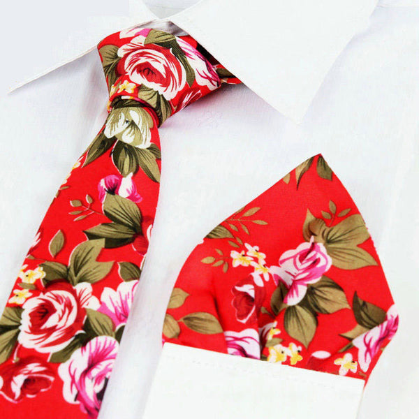 Floral Tie & Pocket Sq Set