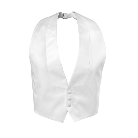 Three Button Tuxedo Vest With Lapel - Satin
