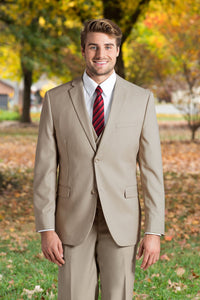 Slim Fit Nested Suit - Tan