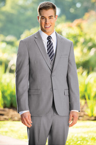 Slim Fit Nested Suit - Light Grey