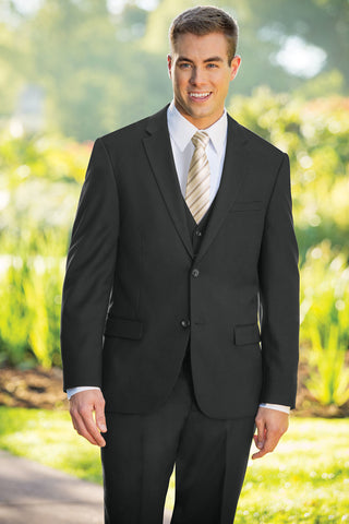Slim Fit Nested Suit - Black