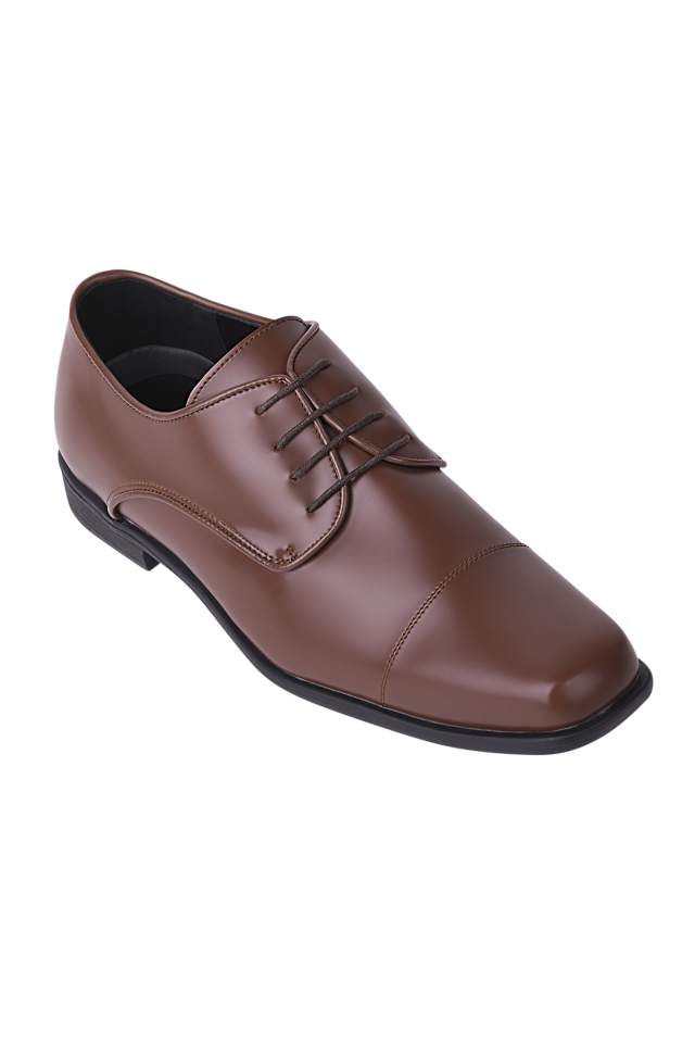 Matte Oxford Dress Shoe - Cognac
