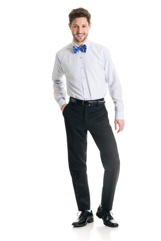 Black Slim Fit 120's Wool - Suit Pant