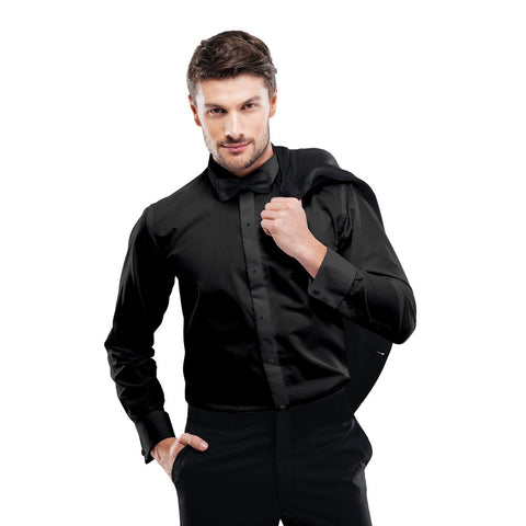 Microfiber - Black - Fitted Shirt