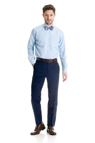 Indigo Slim Fit 120's Wool - Suit Pant