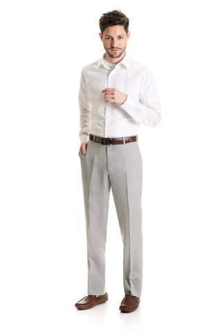 Light Grey Linen - Suit Pant