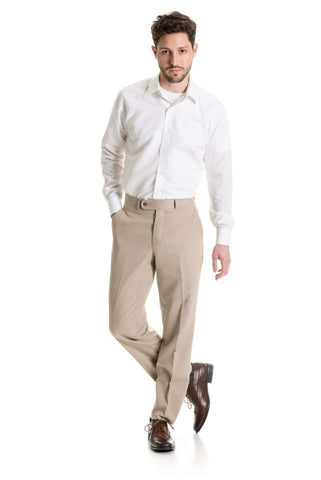 Tan Wool Blend - Suit Pant