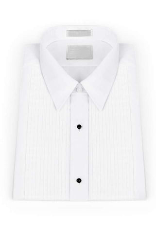 White Pleated Windsor Tuxedo Shirt