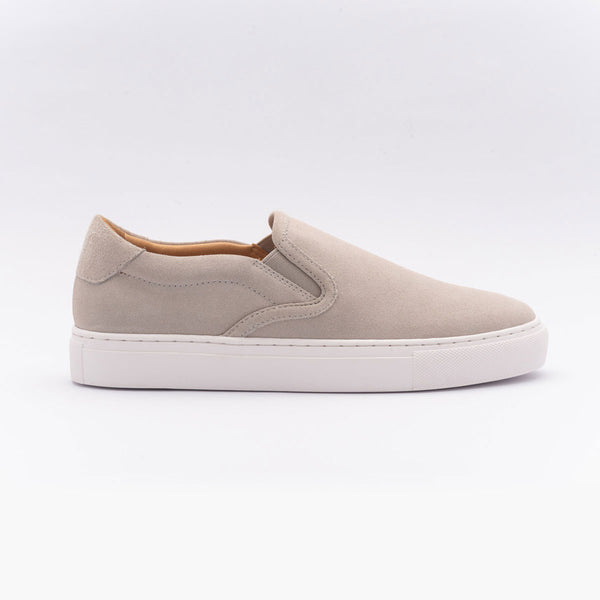 The Slip On in Grey Suede