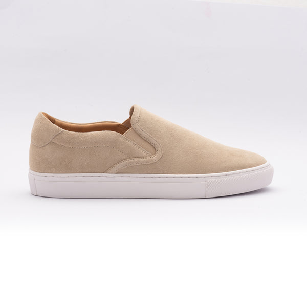 The Slip On in Nude Suede