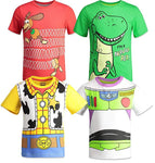Toy Story Boys 4 Pack T-Shirts Woody Buzz Lightyear Rex Slinky Dog( Free Shipping)