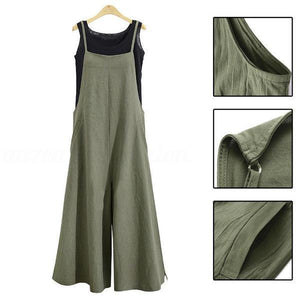 Women Casual Loose Solid Tank Jumpsuit(buy 2 get free shipping)