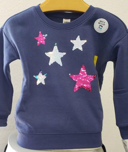 Children's Oshkosh B'gosh Flip Sequin Stars Sweatshirt